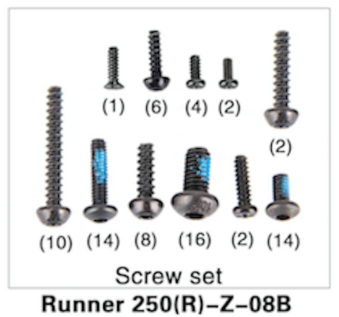Walkera Runner 250 Advance Screw Set