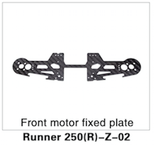 Walkera Runner 250 Advanced Front Motor Fixed Plate - Carolina Dronz - 1