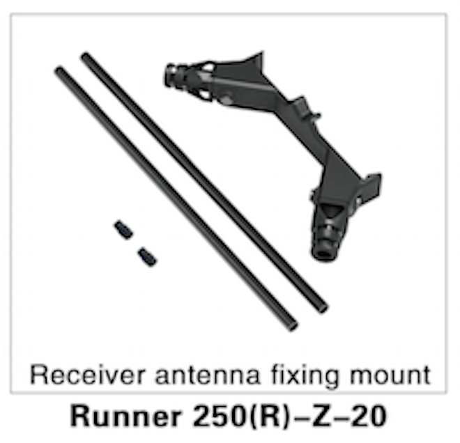 WALKERA Runner 250 Advance Receiver Antenna Fixing Mount - Carolina Dronz - 1