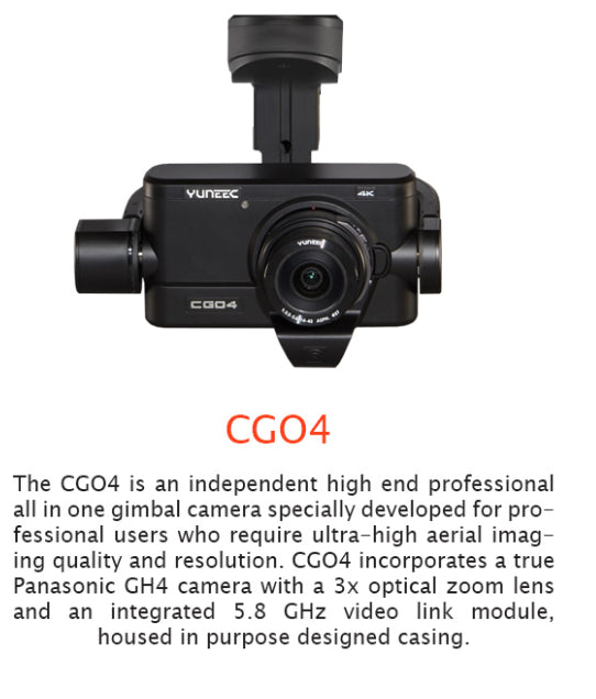 Yuneec CGO4 4K Camera and Gimbal with ProAction and Aluminum Case - Carolina Dronz - 1