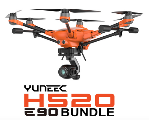 Yuneec H520 Industrial Commercial Hexa-Copter Bundle with E90 Camera