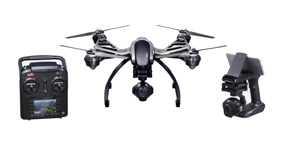 Yuneec Q500 4K Typhoon, ST10+, 1 Batteries, SteadyGrip - Carolina Dronz - 1