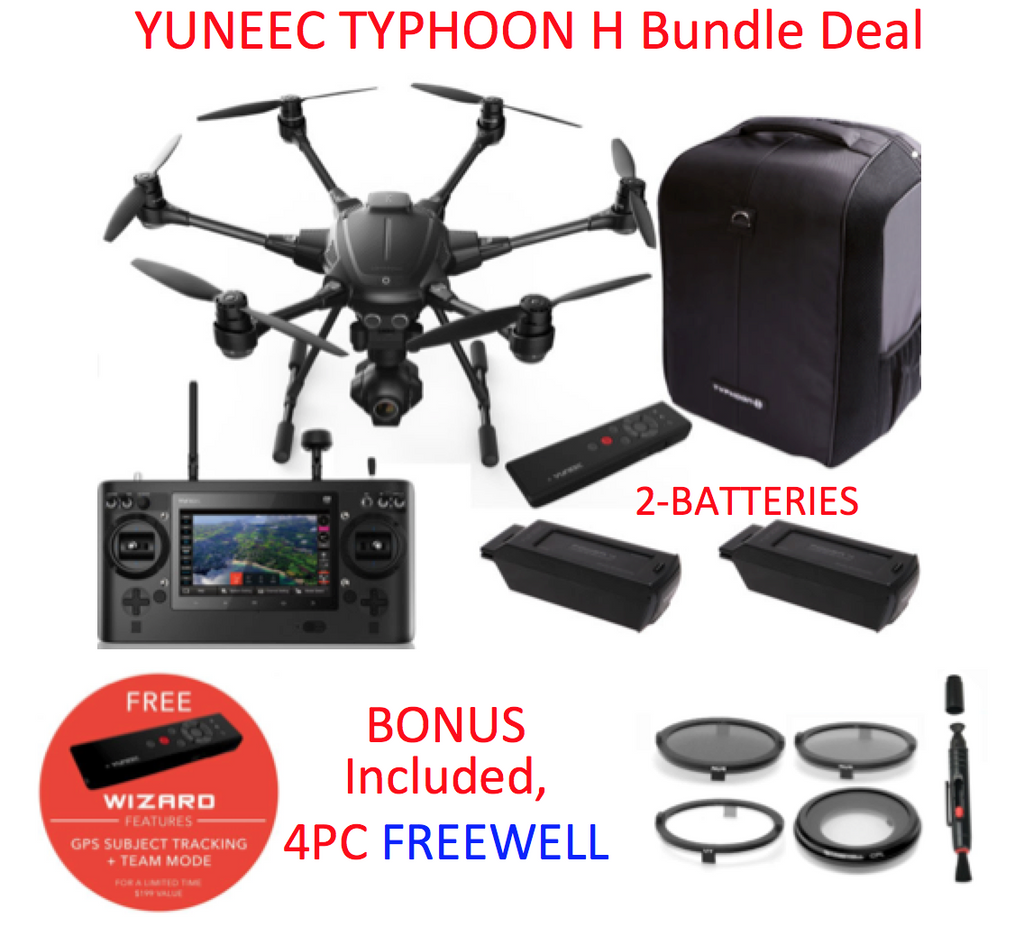 Yuneec Typhoon H, CGO3+ 360 Camera, ST16, BackPack, Bundle - Carolina Dronz - 1