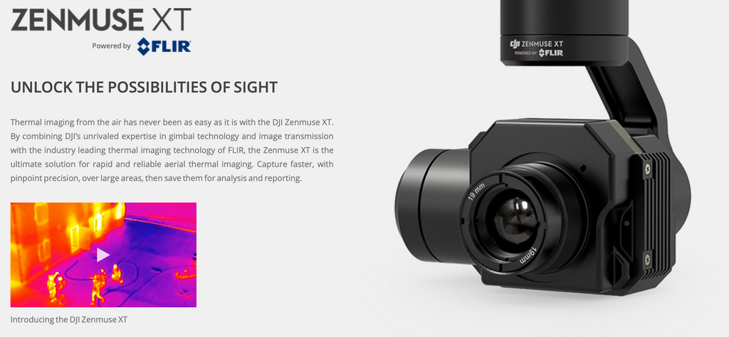 DJI Zenmuse XT Thermal Camera