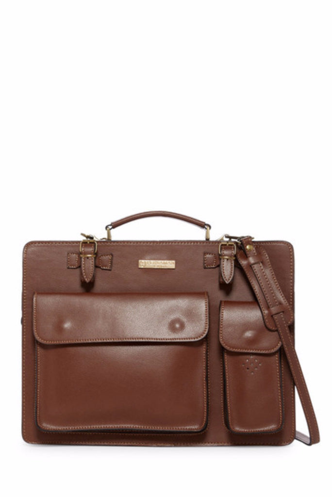 Mario Briefcase Classic Brown
