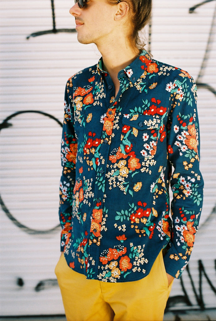 THE OXFORD SHIRT IN FLORAL CORDUROY