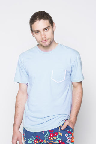 THE T-SHIRT WITH POCKET IN BLUE