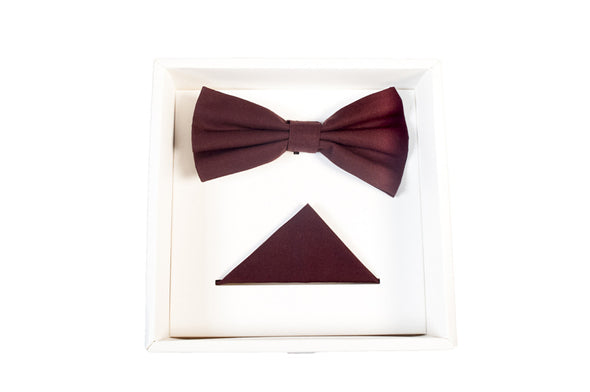 BOW TIE SET IN MAROON
