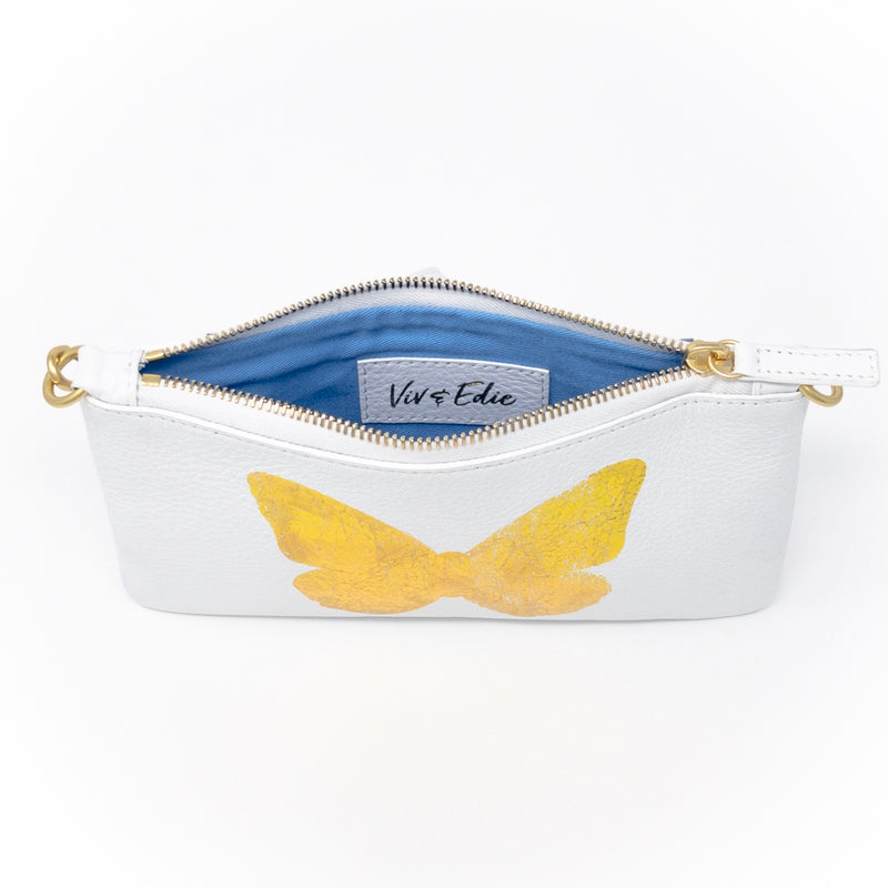Little Zippy Wristlet in Big Gold Butterfly