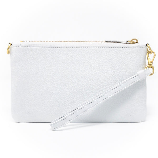 Little Zippy Wristlet in Silver & Gold Confetti