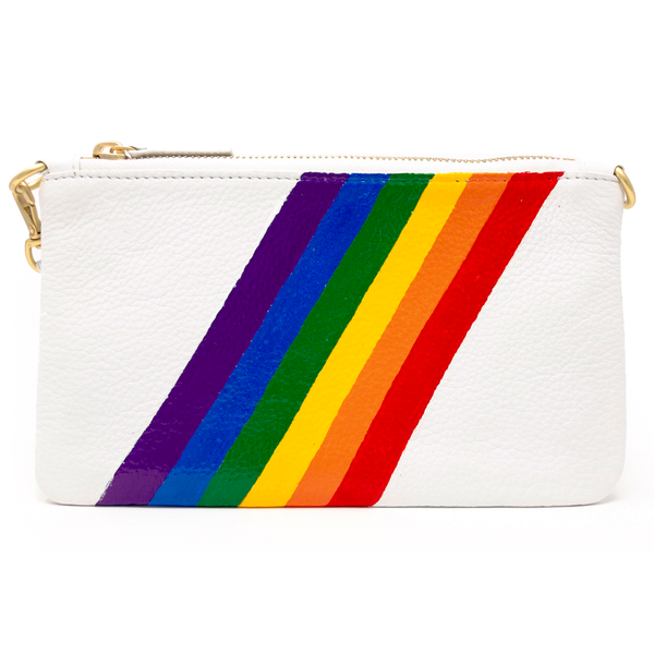 Little Zippy Wristlet in Rainbow Stripe