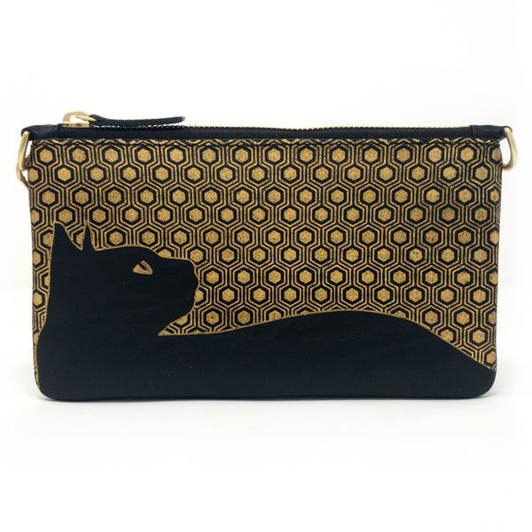 Little Zippy Wristlet in Cat on the Town