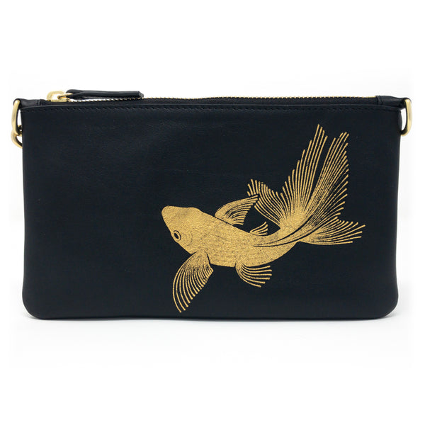 Little Zippy Wristlet in Goldfish