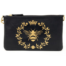 Little Zippy Wristlet in Queen Bee
