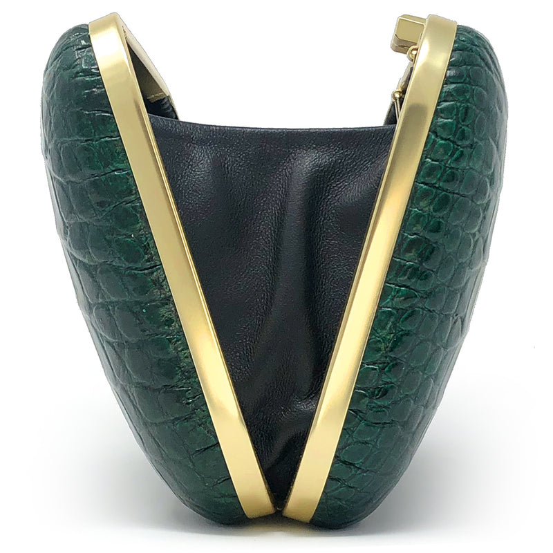 """Emerald City"" clutch"