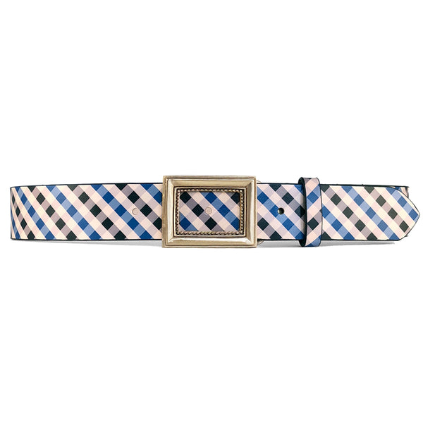 Black & Blue Gingham Belt