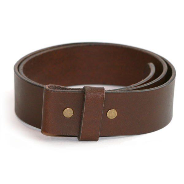Plain leather belt strap