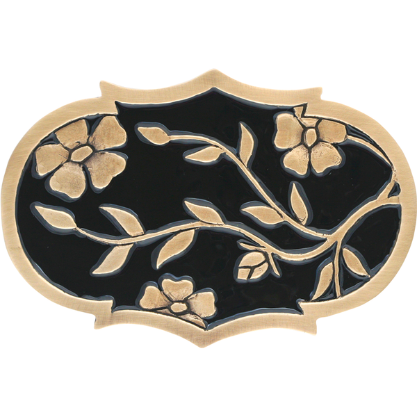 Flowers & Branches Belt Buckle Colored