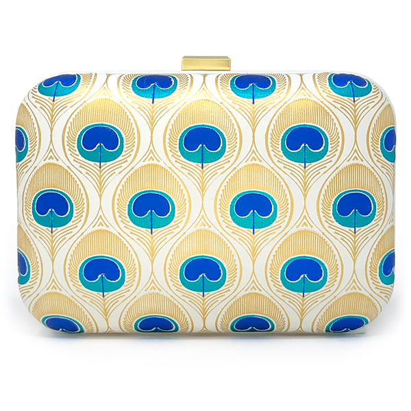 """In a Room Full of Swans be a Peacock"" clutch - minty fresh edition"