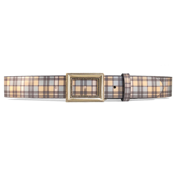 Blue & Yellow Plaid Belt