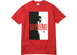 Supreme x Scarface Split Tee Red Size L