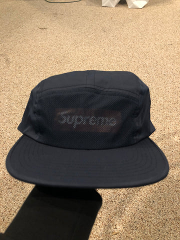 Supreme Front Panel Mesh Navy Cap
