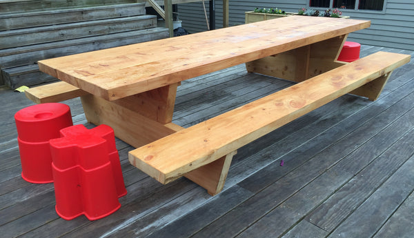 Macrocarpa Outdoor BBQ Tables