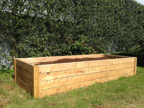 Raised Garden Boxes 3m x 1m various heights