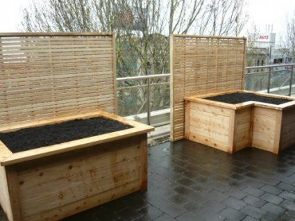 L-Shaped Raised Garden Box 1.5m x 1m x 740mm high