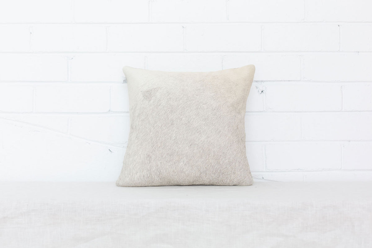 Grey Cowhide Cushion