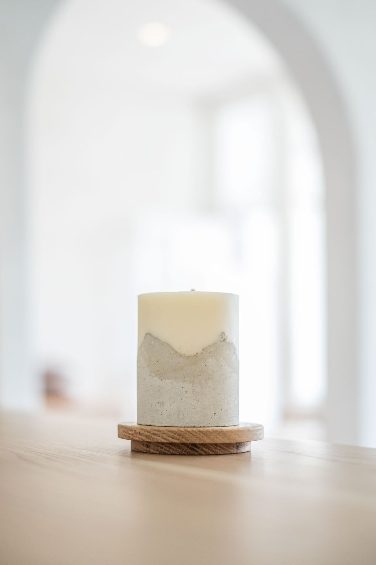 Oak Candle Plinth