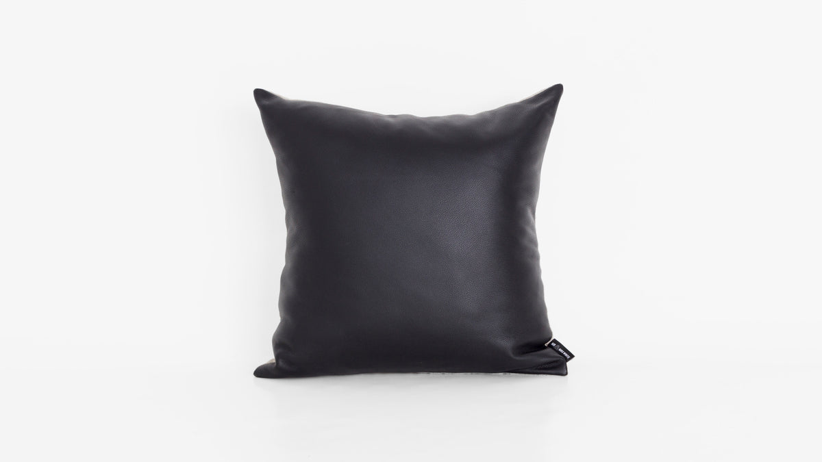Classic Black Leather Cushion