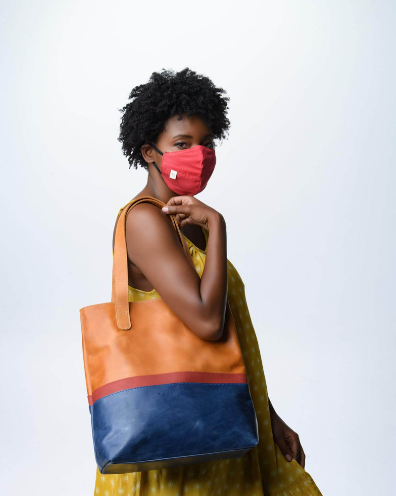 Colorblock Hanna Tote - Walnut - UnoEth