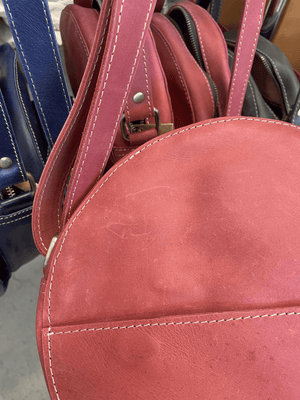 Load image into Gallery viewer, SAMPLE SALE - Zuri Circle Bag - Red