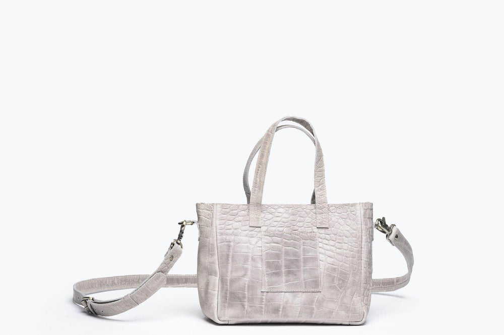 Load image into Gallery viewer, Kamali Leather Crossbody - Light Grey