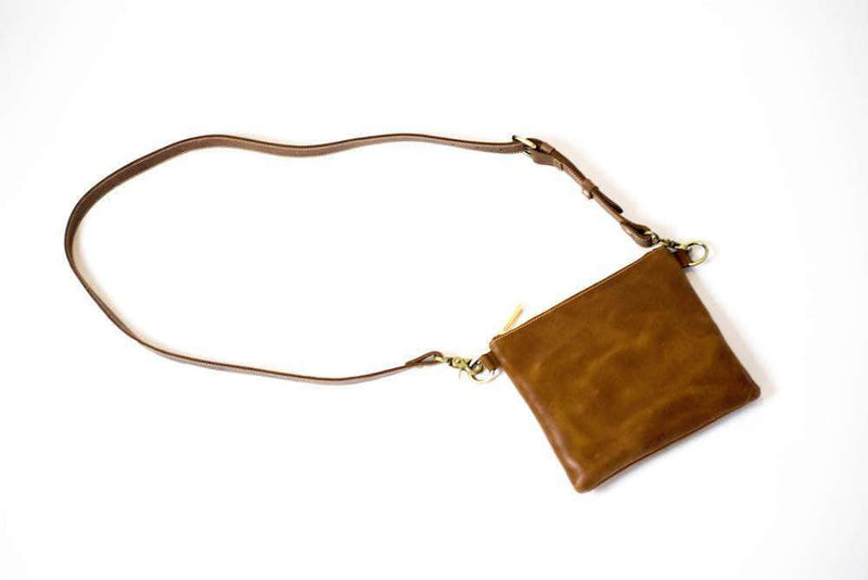 Amara Leather Crossbody - Almond Brown - UnoEth