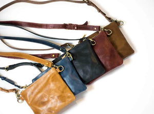 Amara Leather Crossbody - Walnut - UnoEth