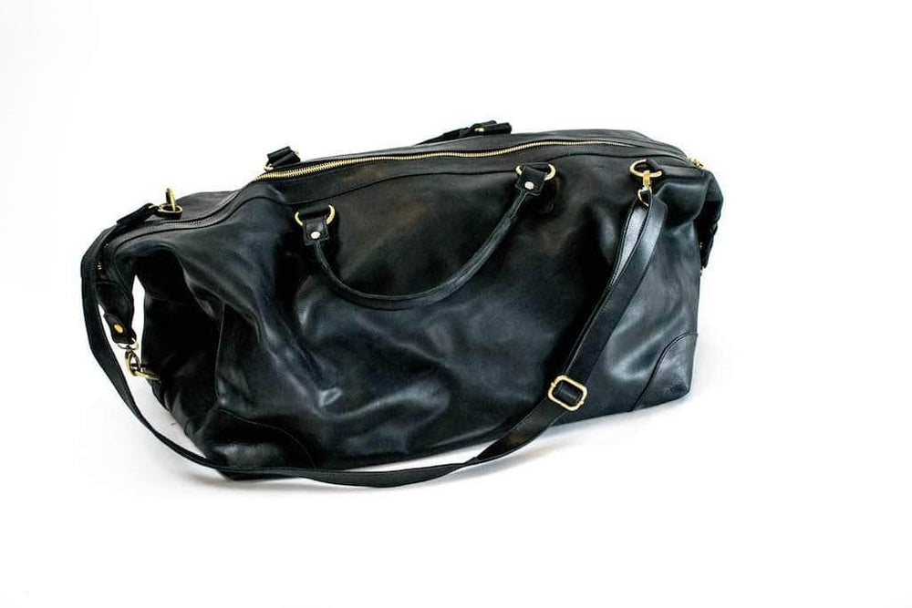 Guzzo Leather Duffle Bag - Black