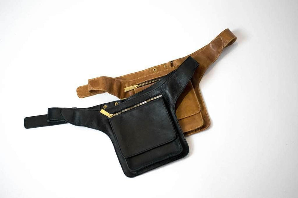 Load image into Gallery viewer, Mekane Leather Fanny Pack - Walnut - UnoEth