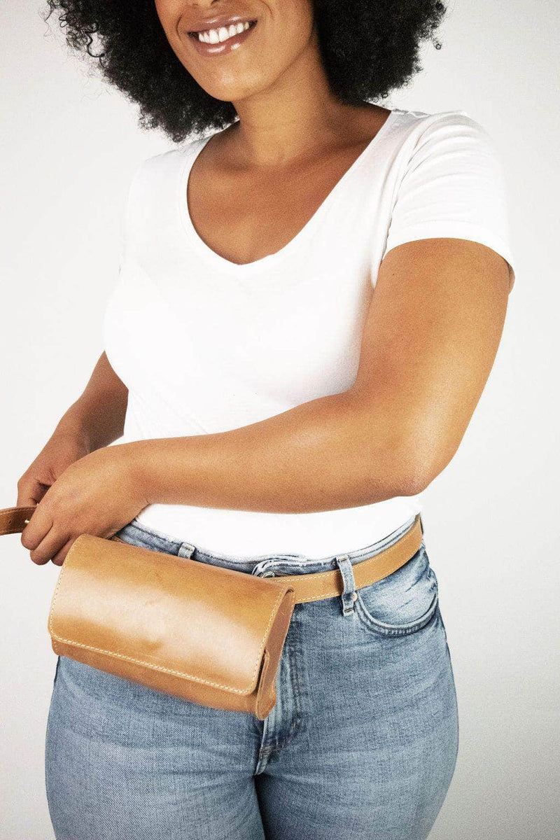Bintu Barrel Fanny Pack - Walnut - UnoEth