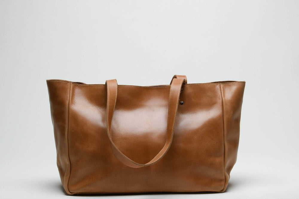 SAMPLE SALE - Sheba Leather Tote - Walnut
