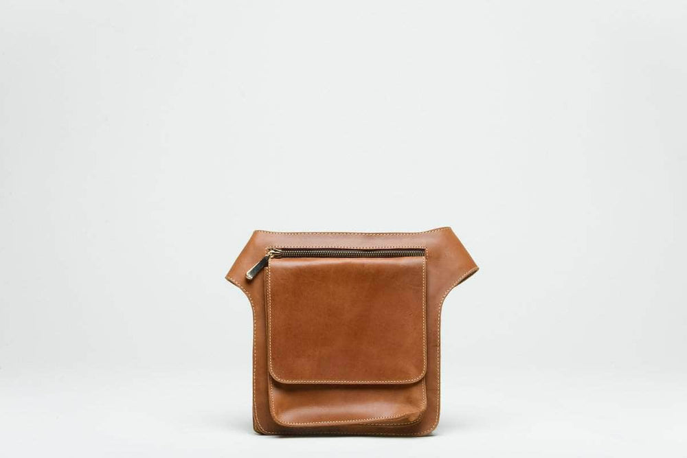 Mekane Leather Fanny Pack - Walnut - UnoEth