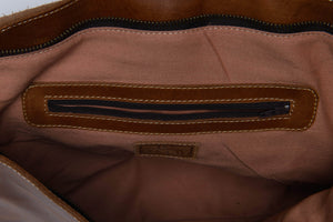 Telak Leather Messenger Bag - Walnut - UnoEth