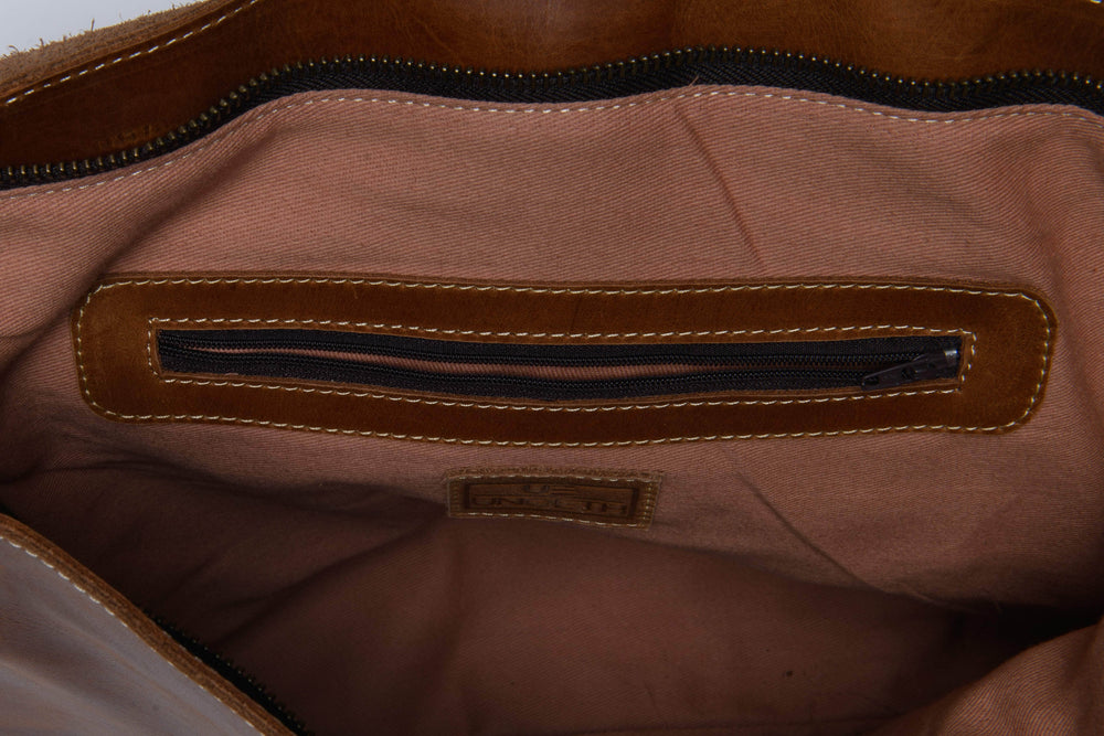 Load image into Gallery viewer, Telak Leather Messenger Bag - Almond Brown - UnoEth