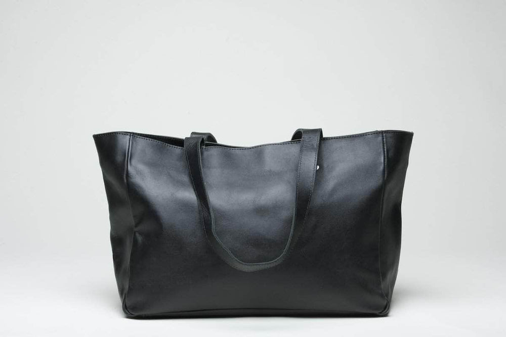 Sheba Leather Tote - Black