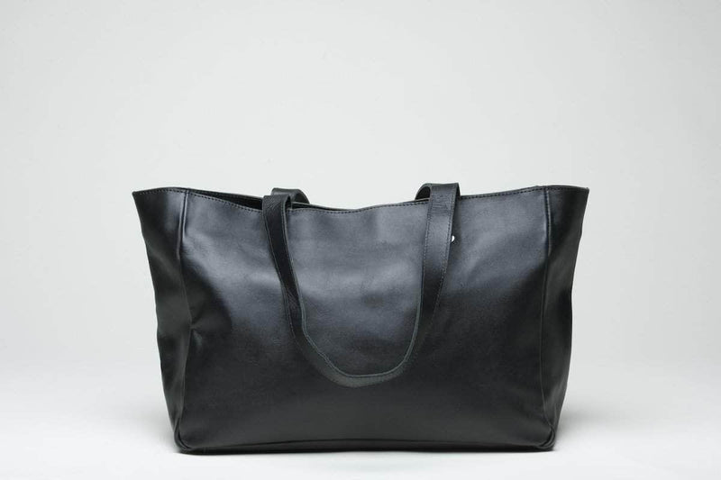 Sheba Leather Tote - Black - UnoEth