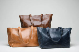 Sheba Leather Tote - Walnut - UnoEth