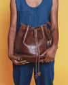 Konjo Leather Bucket Bag - UnoEth
