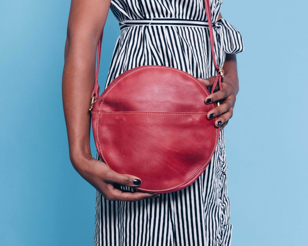 SAMPLE SALE - Zuri Circle Bag - Red