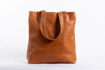Hanna Leather Tote - Walnut